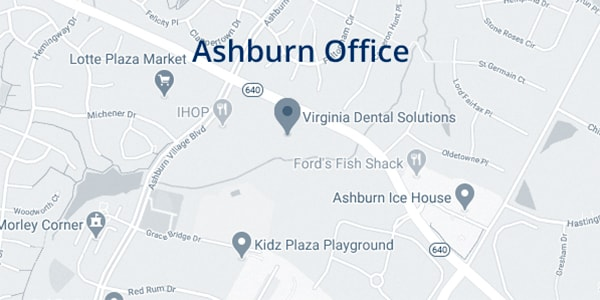 Map of where to find the Ashburn, VA